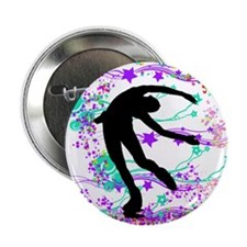 """Figure Skater Spin 2.25"""" Button (10 pack)"""