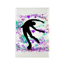 Figure Skater Spin Rectangle Magnet