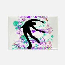 Figure Skater Spin Rectangle Magnet (10 pack)