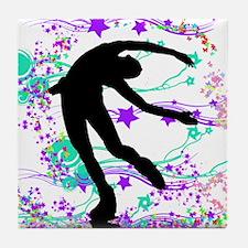 Figure Skater Spin Tile Coaster