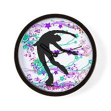 Figure Skater Spin Wall Clock