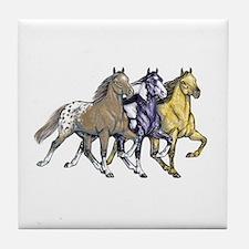 Cute Spotted saddle horse Tile Coaster