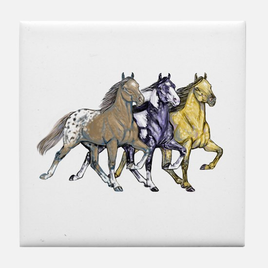 Funny Spotted saddle horse Tile Coaster