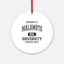 Malamute Ornament (Round)