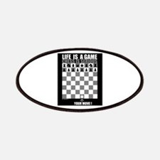 Life is a game, chess is seri Patches