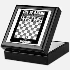 Life is a game, chess is seri Keepsake Box