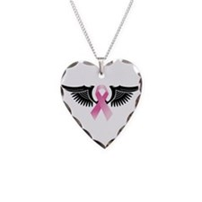 Cute Breast cancer Necklace Heart Charm