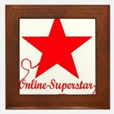 Online superstar Framed Tile
