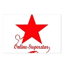 Online superstar Postcards (Package of 8)
