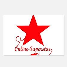 Online superstar Postcards (Package of 8)