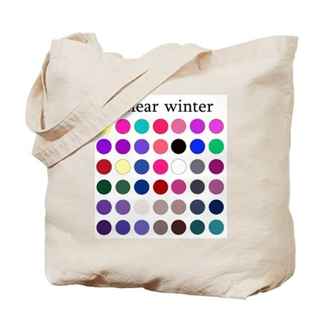 color analysis Tote Bag clear winter