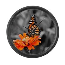 Madam Monarch Butterfly Large Wall Clock