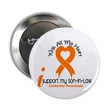 """With All My Heart Leukemia 2.25"""" Button"""