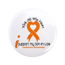 "With All My Heart Leukemia 3.5"" Button (100 pack)"
