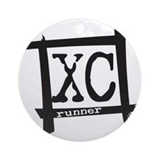 XC Runner Ornament (Round)