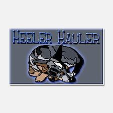 Heeler Hauler - Car Magnet 20 x 12