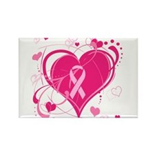 Run With Heart Rectangle Magnet