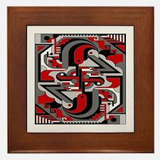 Vintage Deco Tech Framed Tile