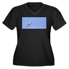 In Formation Women's Plus Size V-Neck Dark T-Shirt