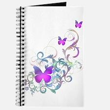 Bright Purple Butterflies Journal