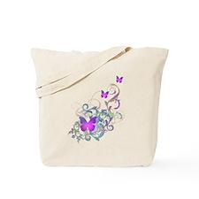 Bright Purple Butterflies Tote Bag