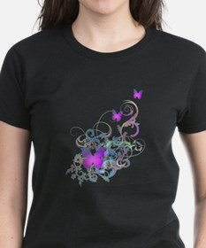 Bright Purple Butterflies Tee
