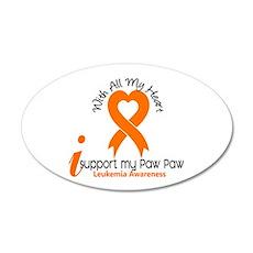 With All My Heart Leukemia 22x14 Oval Wall Peel