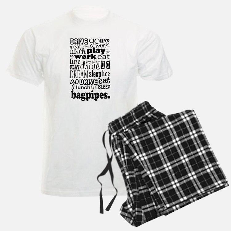 Eat, Sleep, Work, Play Bagpipes Pajamas