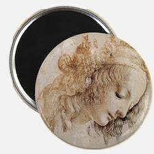 Vintage Da Vinci Woman Magnet