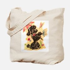 Perky Poodle Tote Bag