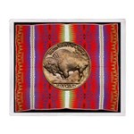 Indian Design-H3aa Throw Blanket