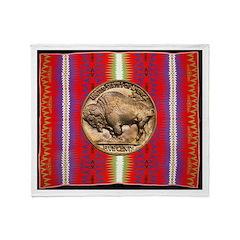 Indian Design-H3aa Throw Blanket