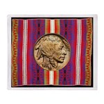 Indian Design-H3bb Throw Blanket