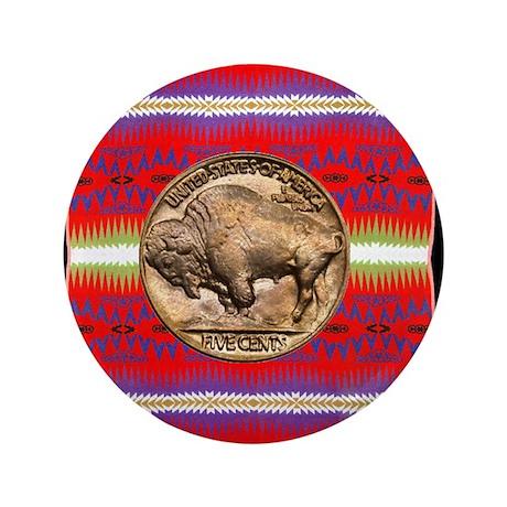 "Indian Design-03a 3.5"" Button"