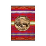 Indian Design-03a Rectangle Magnet (100 pack)
