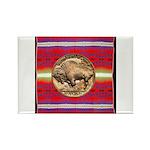 Indian Design-03a Rectangle Magnet (10 pack)
