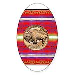 Indian Design-03a Sticker (Oval)