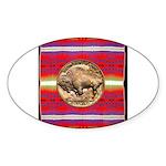 Indian Design-03a Sticker (Oval 10 pk)