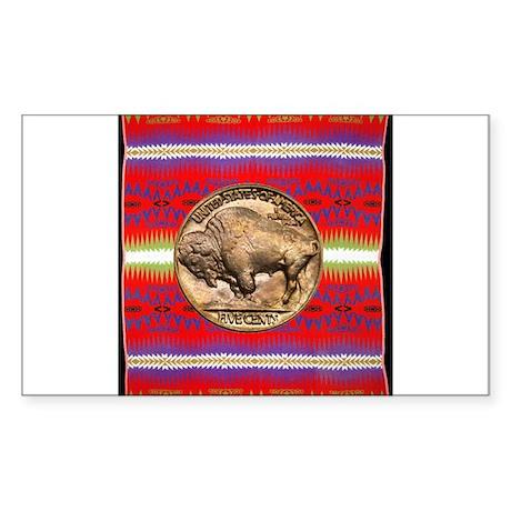 Indian Design-03a Sticker (Rectangle 50 pk)