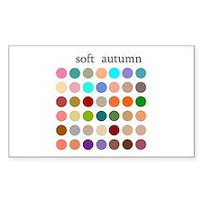 color analysis Sticker soft autumn