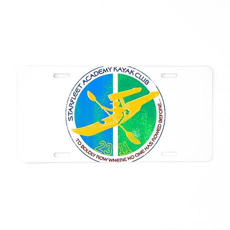 Starfleet Academy Kayak Club Aluminum License Plat