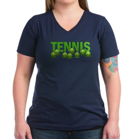 Tennis (e) Women's V-Neck Dark T-Shirt