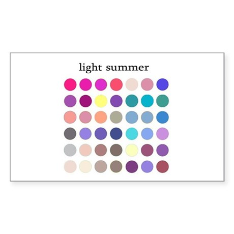 color analysis Sticker light summer