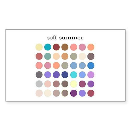 color analysis Sticker soft summer