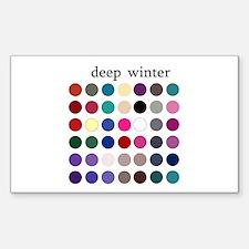 color analysis Sticker deep winter