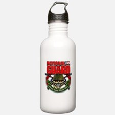 US National Guard Skull and R Water Bottle