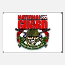 US National Guard Skull and R Banner