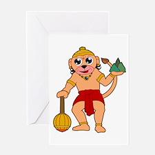 Unique Hanuman Greeting Card