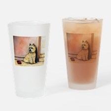 Cairn Terrier Painting Drinking Glass