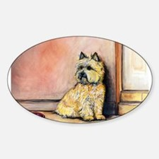Cairn Terrier Painting Sticker (Oval)